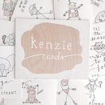 kenzieCARDS wooden board promo